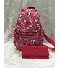 กระเป๋า Kipling เซ็ท + กระเป๋าเงิน ไม่มีลิง