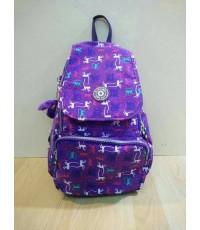 กระเป๋าเป้ KIPLING สีพื้นฝาปิด 12 นิ้ว