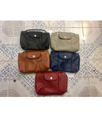 LONGCHAMP Le Pliage Cuir Leather Tote BAG Mini หนัง