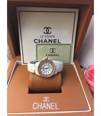 นาฬิกา Chanel J12 Ladies Watch ขาวกรอบทอง