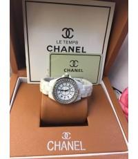 นาฬิกา Chanel J12 Ladies Watch ขาวกรอบเงิน