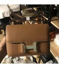 Hermes Constance Bag Oxhide LeatherSilver