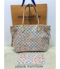 Louis vuitton Damier Azur neverfull mm handbag bag