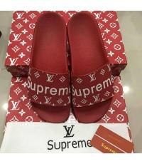 รองเท้า Louis Vuitton SUPREME men and Woman slippers sandals