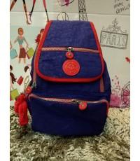 กระเป๋าเป้ KIPLING สีพื้นฝาปิด 13 นิ้ว ขอบสี