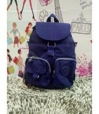 กระเป๋าเป้ KIPLING สีพื้นฝาปิด 2 กระเป๋าหน้า