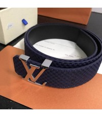 Louis Vuitton  initiales  belt น้ำเงิน