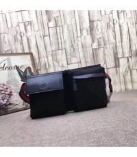 กระเป๋าคาดเอว คาดอก GUCCI ดำสายเขียวแดง ตัว TOP