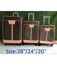 Louis vuitton super suitcase luggage travel bag 20 24 27 นิ้ว