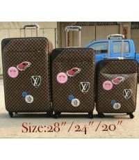 Louis vuitton super suitcase luggage travel bag 20 24 28 นิ้ว