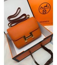 Hermes Constance Bag Oxhide Leather อะไหล่ทอง