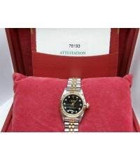 นาฬิกาRolex หน้าดำเพชรเล็กbaby size สภาพสวย ใบ+กล่องศูนย์