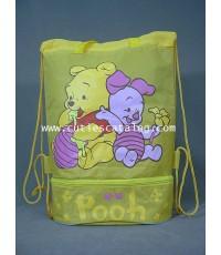 กระเป๋าใส่ชุดว่ายน้ำหมีพูห์ Pooh swimming suit bag