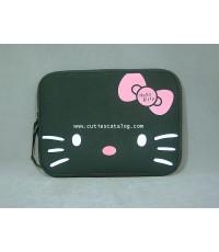 กระเป๋าโน๊ตบุ๊คคิตตี้/ซอฟท์เคสคิตตี้ Kitty softcase notebook สีดำ ขนาด 10 นิ้ว
