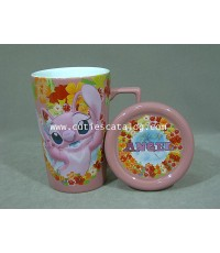แก้วดิสนีย์ แบบมีฝาปิด ลายแองเจิ้ล(Angel cover mug)