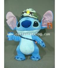 ตุ๊กตาสติช 18 นิ้ว (Stitch Doll) แบบยืนใส่หมวกทหาร