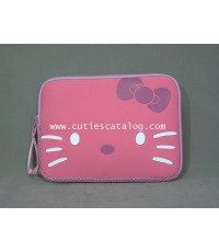 ซอฟท์เคสคิตตี้ Kitty softcase notebook สีชมพู แบบ 2 ขนาด 10 นิ้ว