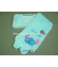 ผ้าพันคอลายสติช Stitch scarf แบบ 3