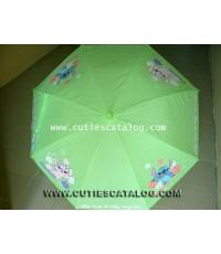 ร่มลายสติช Stitch umbrella แบบที่ 11/3 สีเขียว ลายสติช แองเจิ้ล