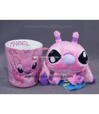 แก้วแองเจิล พร้อมตุ๊กตาแองเจิล แบบ 1 (Angel mug with Angel doll)