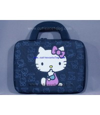กระเป๋าโน๊ตบุ๊คคิตตี้ แบบกันกระแทก Kitty notebook case สีดำ ขนาด 14 นิ้ว