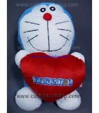 ตุ๊กตาโดเรม่อน 16 นิ้ว ถือหัวใจ Doraemon doll 16 Inches with hart