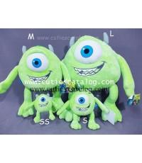 ตุ๊กตาไมค์ วาโซว์สกี้ จากเรื่อง มอนสเตอร์ อิงค์ Mike Wazaski @ Monster Inc แบบ 3 ทั้งชุด