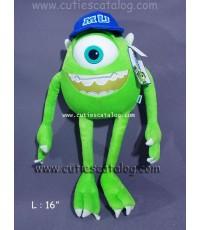 ตุ๊กตาไมค์ วาโซว์สกี้ จากเรื่อง มอนสเตอร์ อิงค์ Mike Wazaski @ Monster Inc แบบ 8 ขนาด L