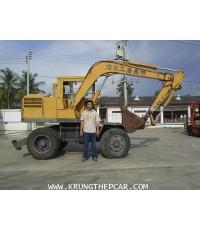.ขาย รถขุด ล้อยาง KOMATSU PW ขับเคลื่อนทั้งล้อหน้าและล้อหลัง เป็นรถนำเข้าพร้อมใช้งานทันที $A13-