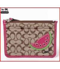 *พร้อมส่งที่ไทยค่ะ*กระเป๋าใส่เหรียญ Coach Watermelon Skinny Wristlet ID Holder F47666 SV/MultiColor