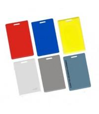 การ์ดบัตรคีย์การ์ดสีเหลืองดำ เขียวฟ้า แดง การ์ดบัตรพนักงานแบบสี