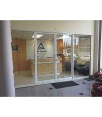 กั้นห้องกระจกอลูมิเนียม-บานเลื่อน บานแขวน บานสวิง