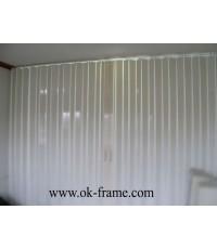 ฉากกั้นห้อง PVC.แบบทึบ
