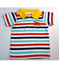 เสื้อโปโลเด็กปักลาย 3-4ปี /6ตัว ราคา 420 บาท