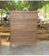 ตู้ลิ้นชักไม้สัก 5 ชั้น