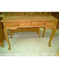 โต๊ะทำงานไม้สักขานก
