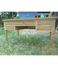 โต๊ะทำงานไม้สักขามะยม