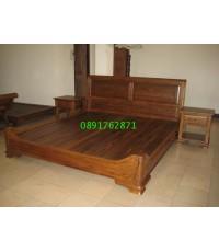 เตียงไม้สักทรงหลุยส์ 2
