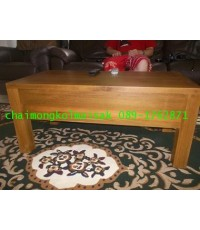 โต๊ะกลางไม้สักขาตรง