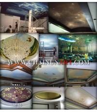 ตัวอย่างวาดภาพตกแต่งฝาเพดาน Ceiling Mural