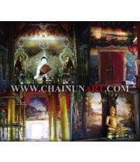ตัวอย่างงานวาดภาพจิตรกรรมไทยฝาผนัง Thai mural