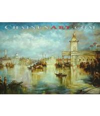 ภาพวาด Venice harbor  Italy
