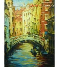 ภาพวาดสพานในเมืองเวนิช Venice Italy