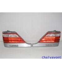 ไฟท้ายชุดแต่งขาว-แดงทั้งชุดเบนซ์ Mercedes - Benz S-Class W140