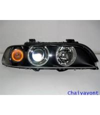 ไฟใหญ่หน้าขวา Halogen แบบโดนัทไฟเลี้ยวขาวรถยนต์ BMW E39 Series 5