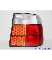 ไฟท้ายขวาชุดแต่งสีขาว-แดง รุ่นตราเพชร สำหรับรถ BMW E34 525i Series 5