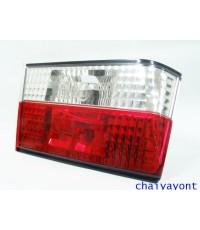 ชุดแต่งทับทิมไฟท้ายเพชร คริสตัล ขาว-แดง ด้านซ้าย รถบีเอ็มดับบลิว BMW E34 518i 520i 525i 530i M43 M50