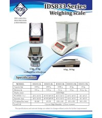 เครื่องชั่งน้ำหนักดิจิตอล ยี่ห้อ SDS รุ่น IDS-833