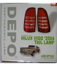 ไฟท้ายแต่งวีโก้LEDแดง/สโม๊ก  made in taiwan  by DEPO/EAGLE EYES ราคาส่ง
