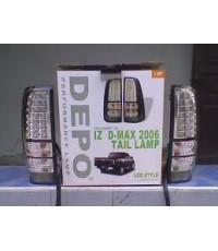ไฟหน้าเพชร-ท้ายแต่งISUZU TFR DMAX ทุกรุ่น LEDแดง/สโม๊ก  made in taiwan  by DEPO/EAGLE EYES  ราคาส่ง